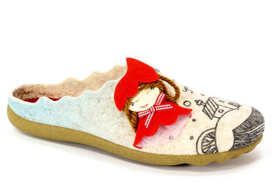 Pantofle Manitu 320512 Beige