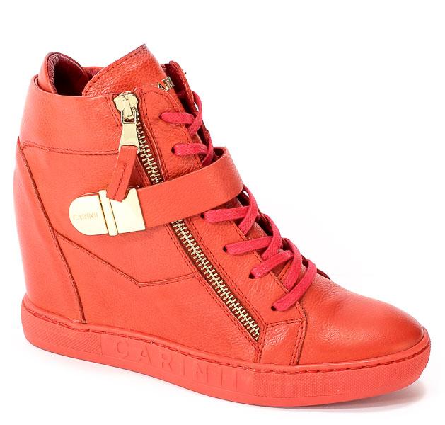 Sneakersy Carinii B4095-I80-000-000-B88 Czerwony