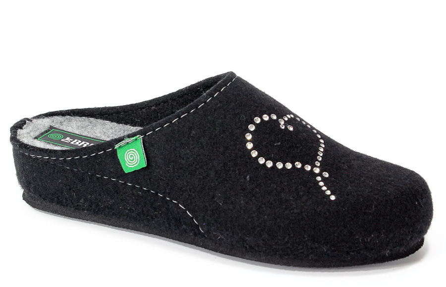Pantofle Brinkmann 330150 Schwarz