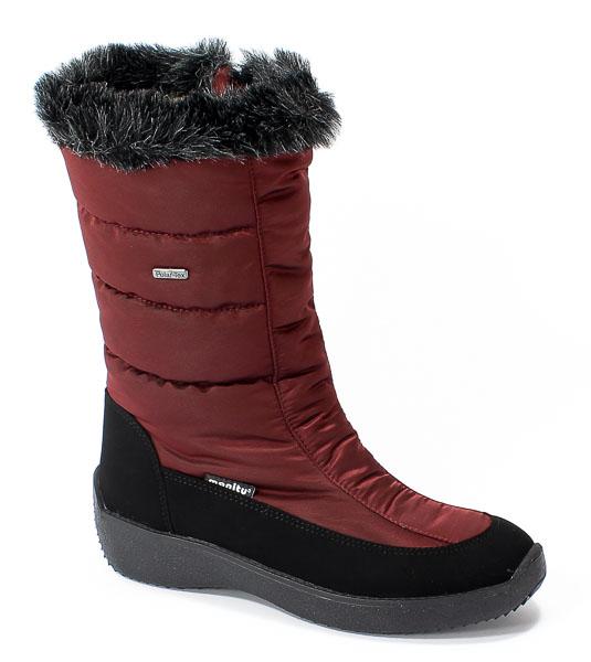 Śniegowce Manitu 991120 Bordeaux Polar Tex