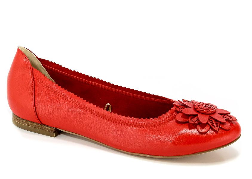99c8c52670f46 Baleriny Caprice 9-22103-20 501 Red Nappa - Baleriny - Kolekcja damska -  Damskie - Wszystkie produkty