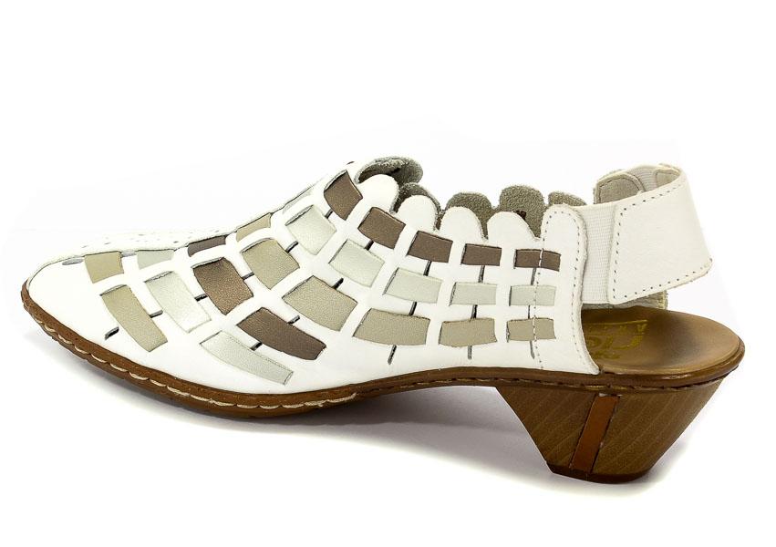 Sandały Rieker 46778 81 White Combination Sandały