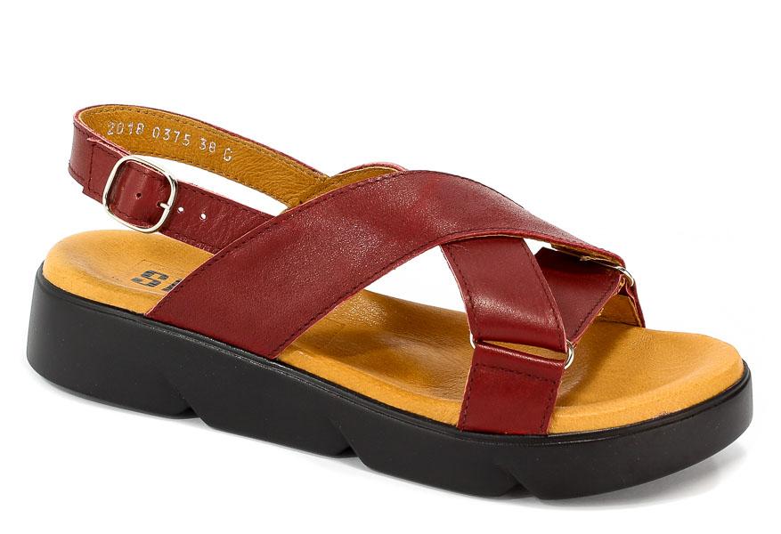 Sandały Simen 0375A Sovage Bordo