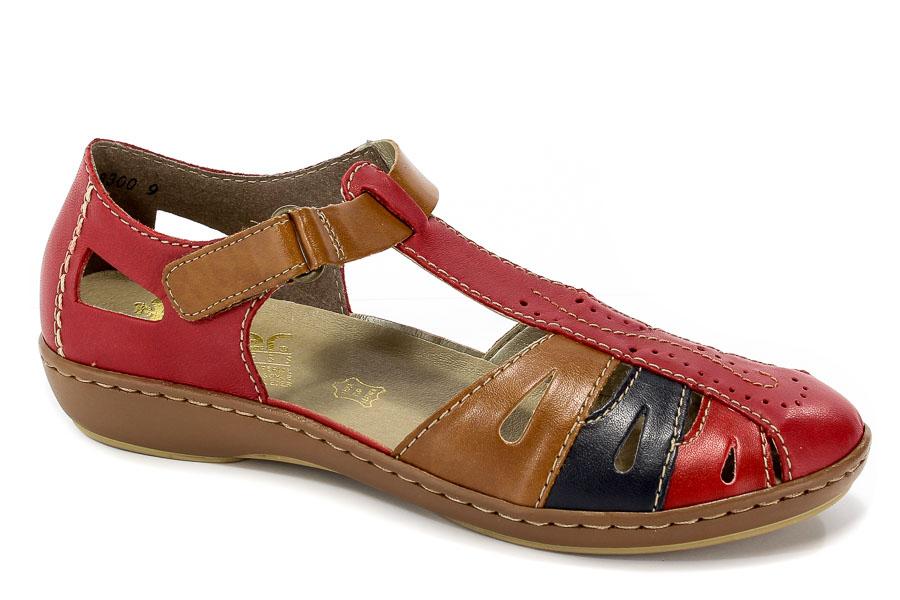 Sandały Rieker 45867-33 Red
