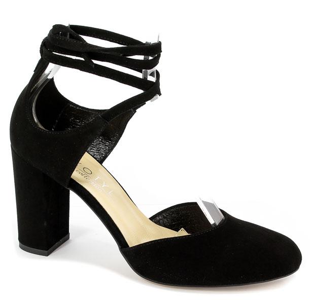 Sandały Kotyl 5911 Czarny Zamsz