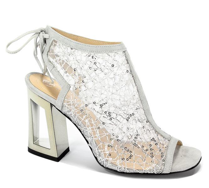 Sandały Solo Femme 60810-11-G15/G38-07-00 Jasny Szary/Srebrny