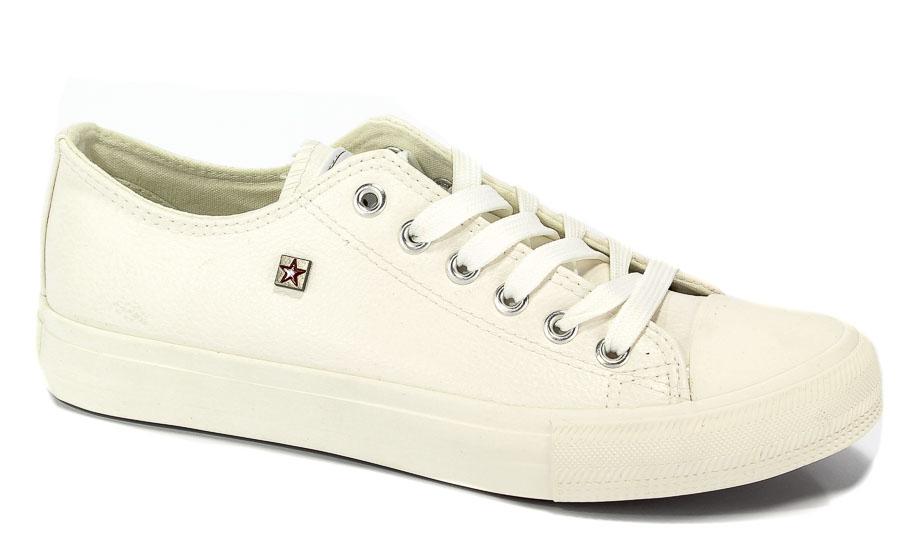 Półbuty Big Star V174347 Biały/White