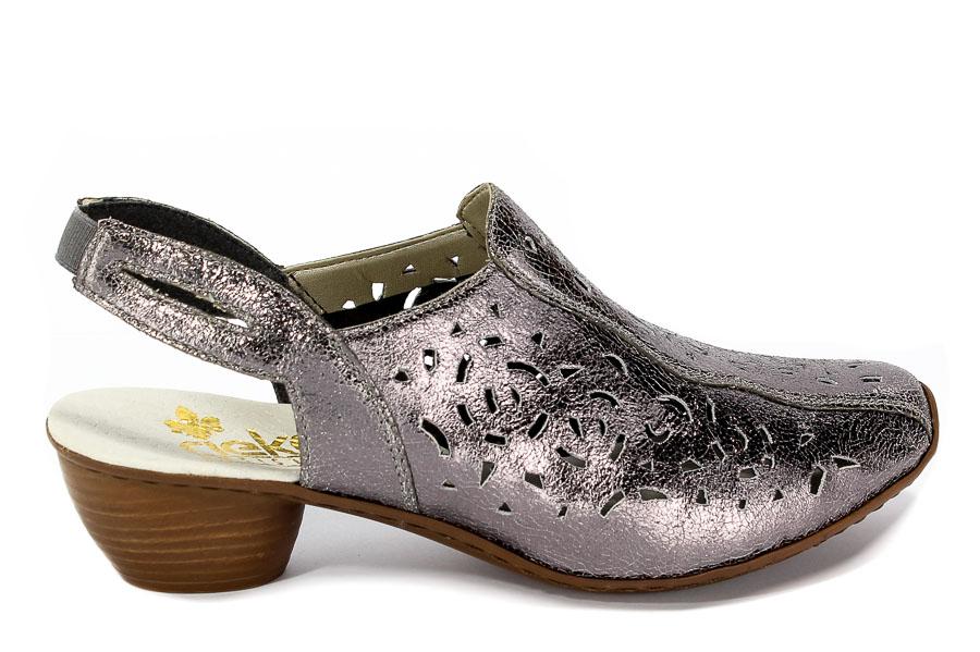 Sandały Rieker 43769-90 Metallic