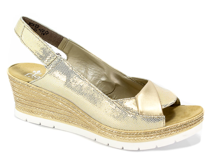 Sandały Rieker 61972-90 Gold