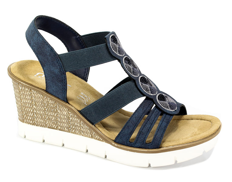 Sandały Rieker 65515-14 Blue