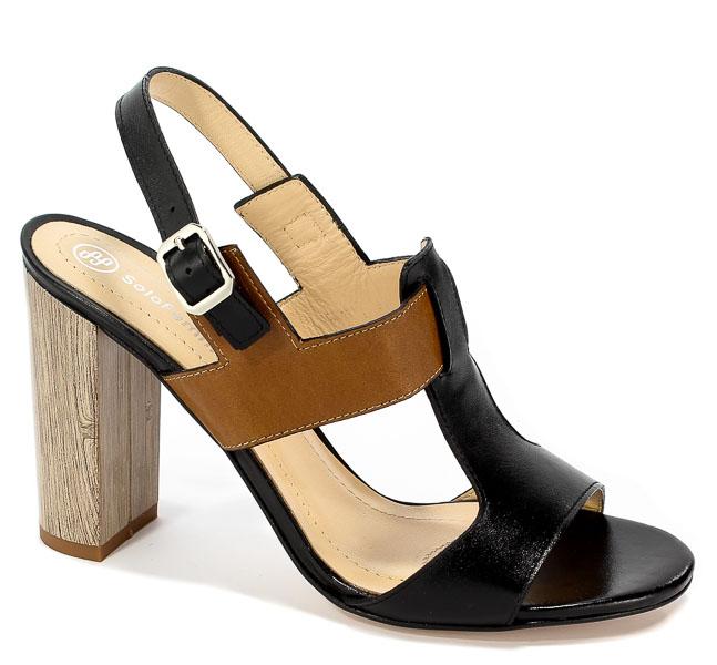 Sandały Solo Femme 62451-35-H74/G51-07-00 Czarny/Camel