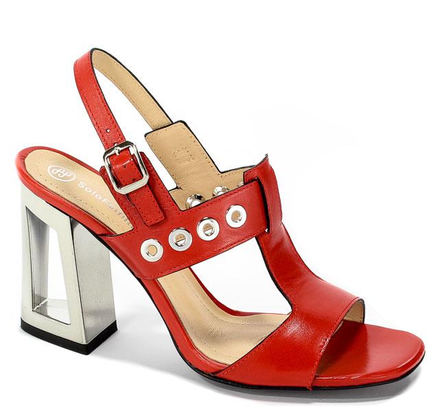 Sandały Solo Femme 60818-11-C86/000-07-00 Czerwony