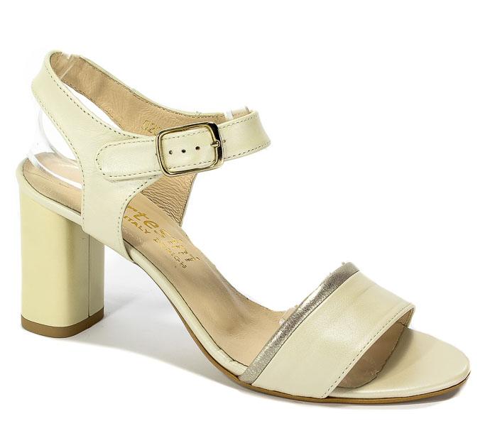 Sandały Cortesini 02072/1 Skóra Perła/Ekri
