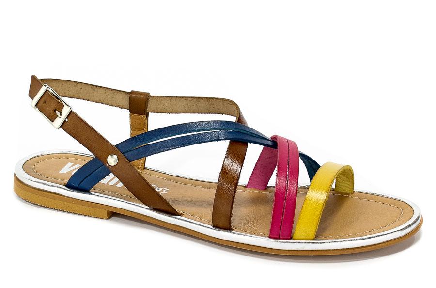 Sandały Verano 918 Limon Fuxia Belotta Azul-26