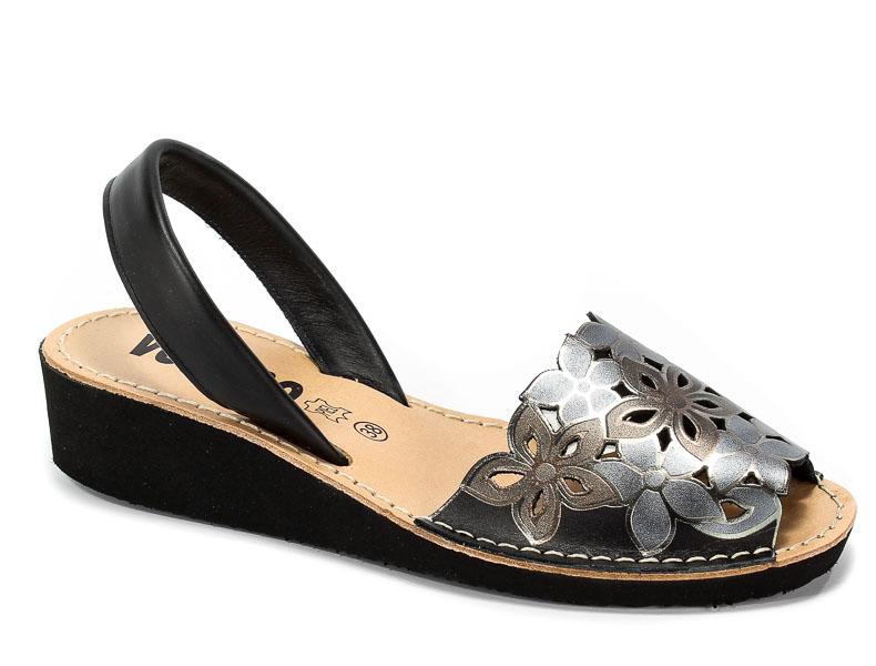 Sandały Verano 1287 Negro/Plata