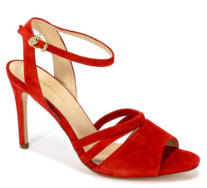 Sandały Solo Femme 26484-53-G13/000/07-00 Czerwony