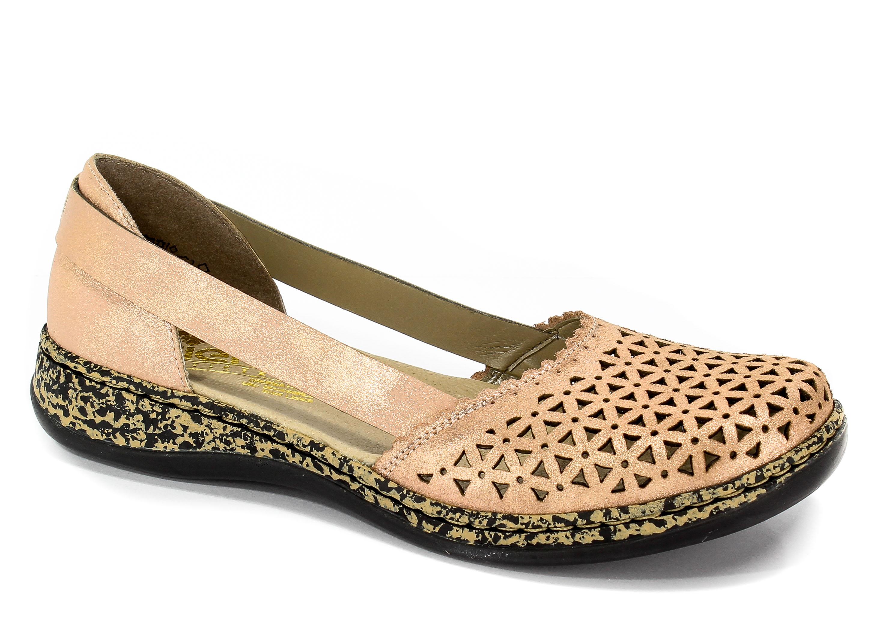 Sandały Rieker 46387-31 Rosa