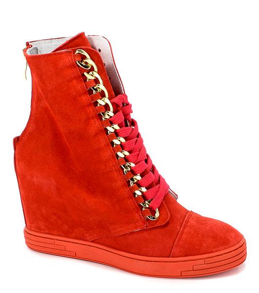 Sneakersy Booci 2222/066/z Czerwony/z
