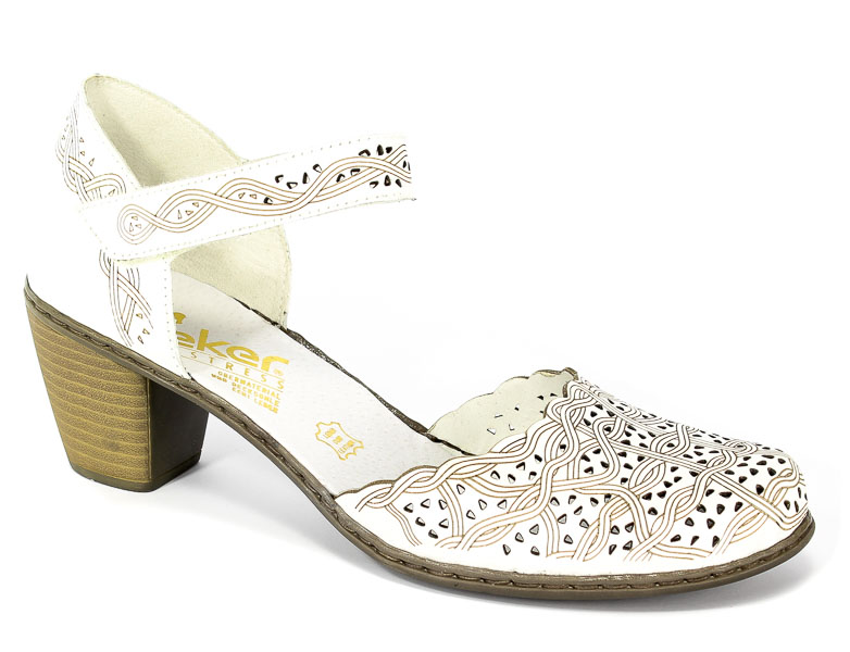 Sandały Rieker 40987-80 Weiss