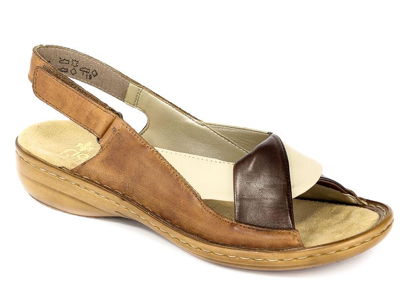 Sandały Rieker 60832-25 Brown komb