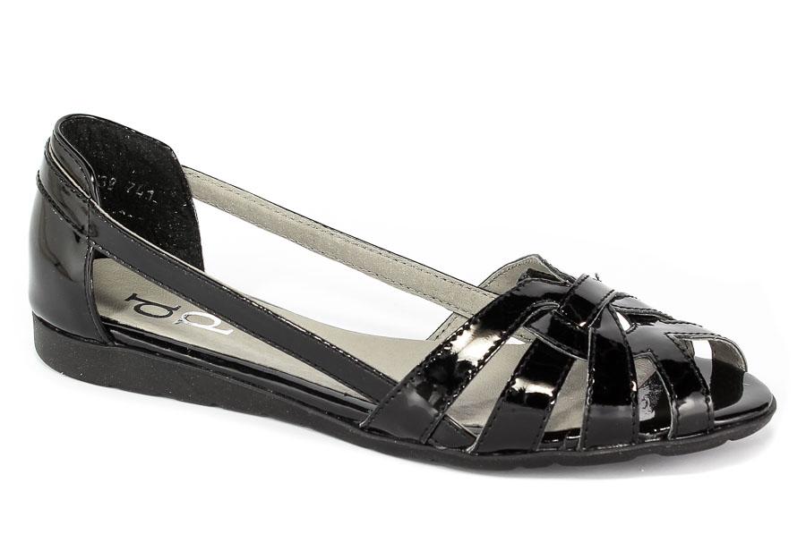 Sandały Piechur 2020-001-05-2 Czarny Lakier