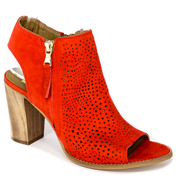 Sandały Nessi 18351 Czerwony 19