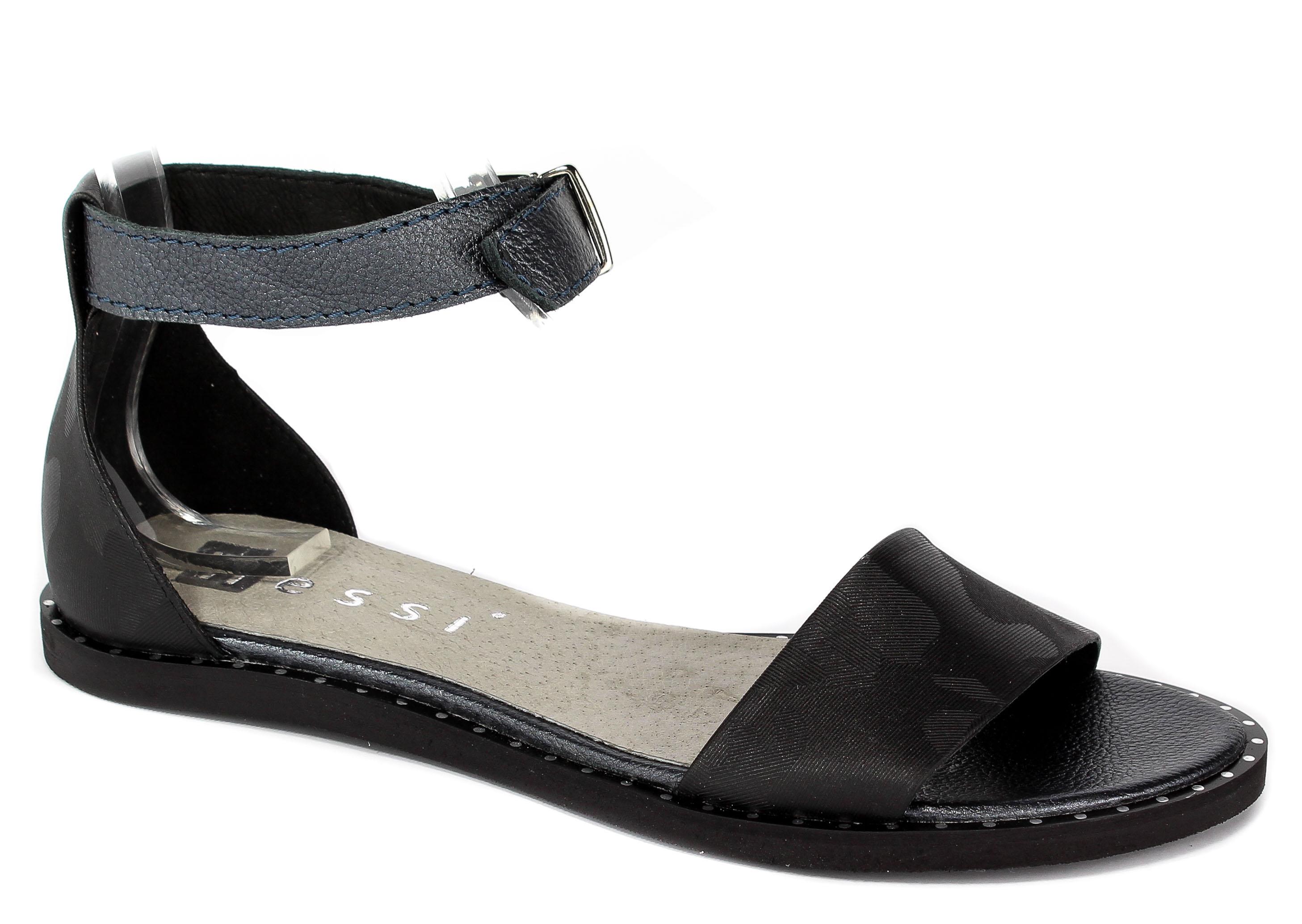 Sandały Nessi 18372 Czarny Moro