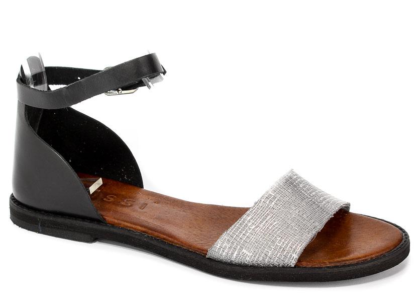 Sandały Nessi 18382 Czarny + Szary ST