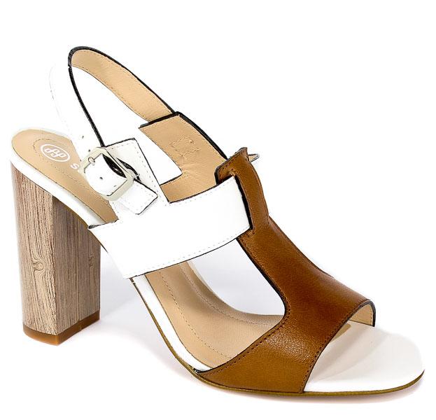 Sandały Solo Femme 62451-35-B99/G51-07-00 Biały/Camel