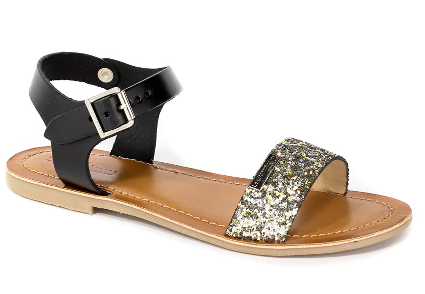 Sandały Les Tropeziennes 10092 Black Glitter/Dk Silver