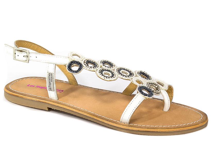 Sandały Les Tropeziennes 12281 White/Silver