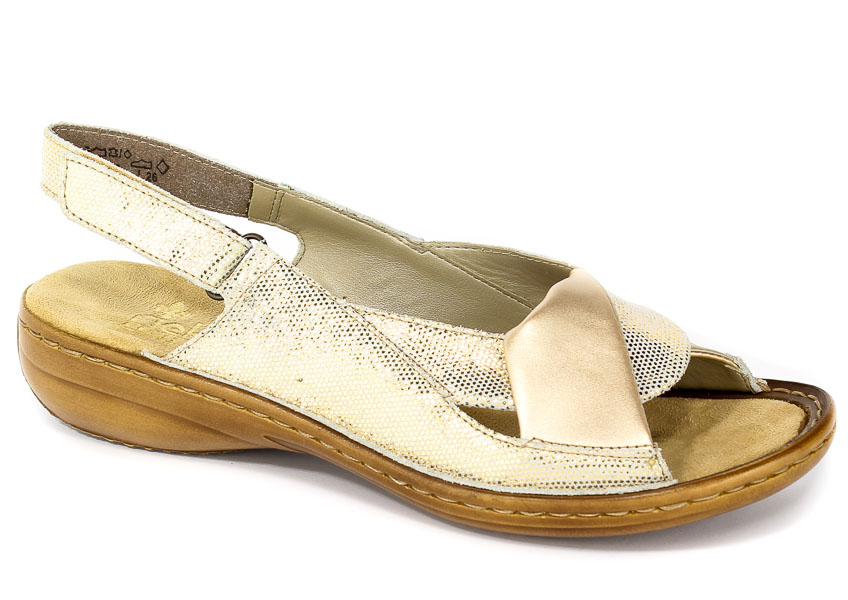 Sandały Rieker 60832-90 Gold