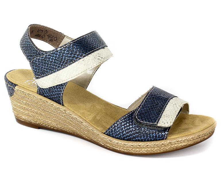 Sandały Rieker 62470-14 Blue Combination