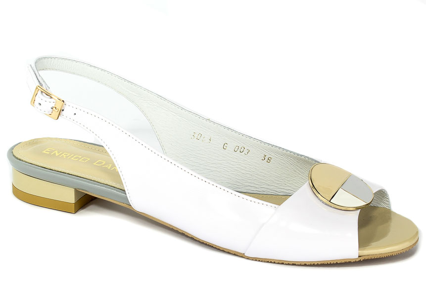 Sandały Enrico Daniele G003-201+201-PN Lico Białe+Lico Białe