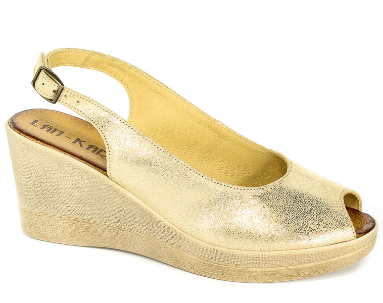 Sandały Lan-Kars G109-240 Złoty