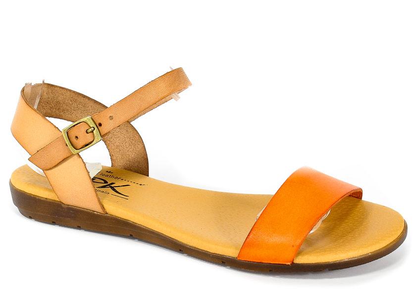 Sandały SPK Shoes 8240 Vaquetilla Naranja/Nuez