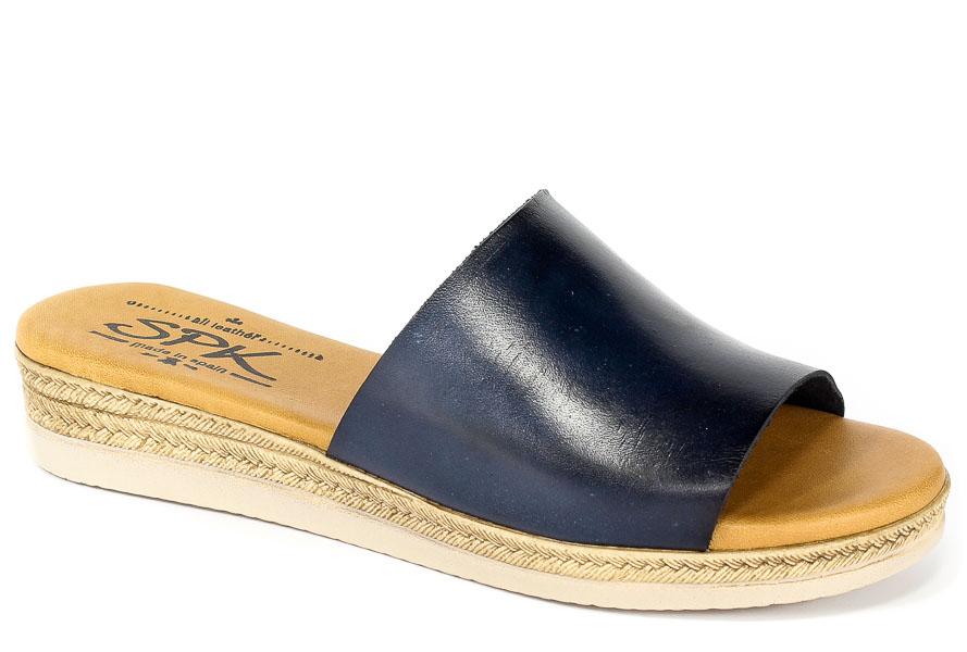 Klapki SPK Shoes 8302 Vaquetilla Marino