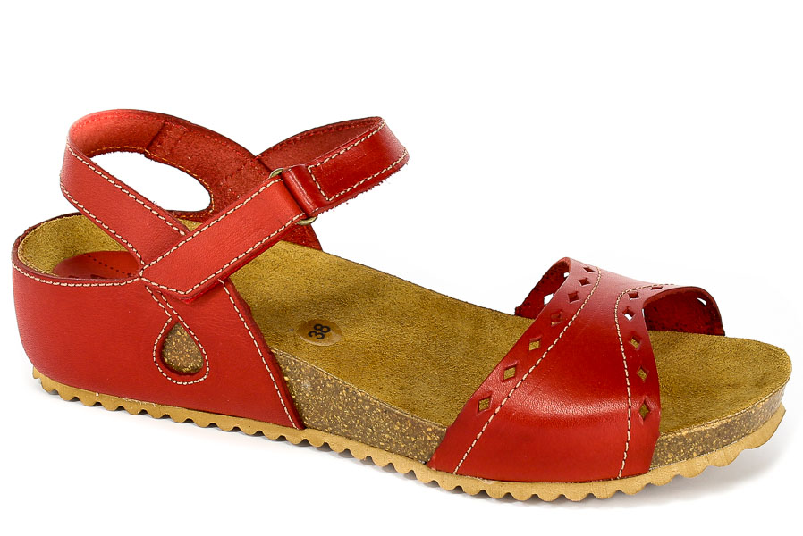 Sandały SPK Shoes 805 Vaquetilla Rojo