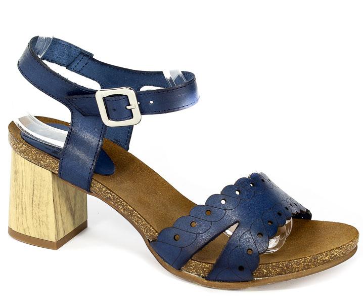 Sandały SPK Shoes 861/Tc Vaquetilla Azul Francia