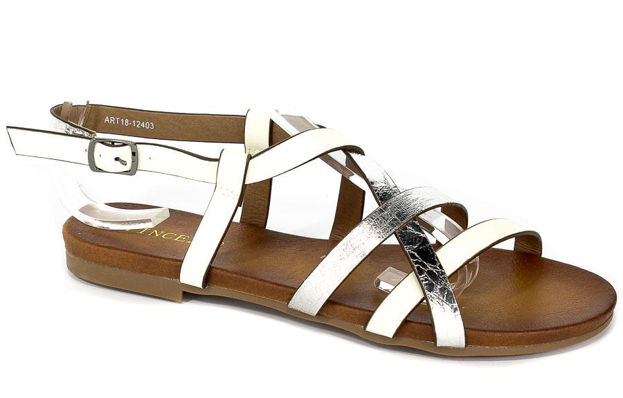 Sandały Vinceza ART18-12403 Biały