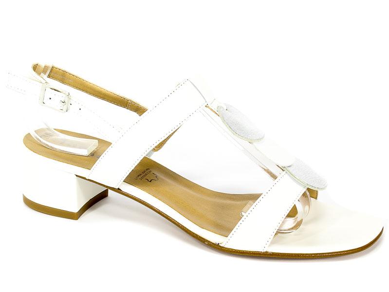 Sandały Tamaris 1-28236-30 152 Wht Lea/Silver