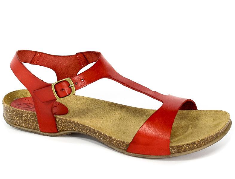 Sandały SPK Shoes 824 Vaquetilla Rojo
