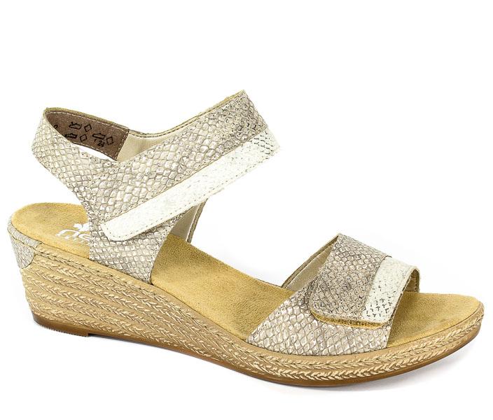Sandały Rieker 62470-64 Metallic