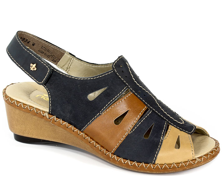 Sandały Rieker 66187-14 Blue Combination