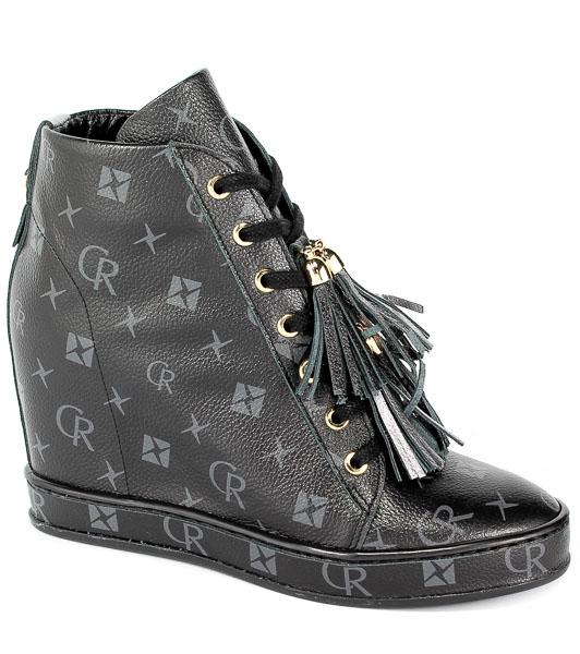 Sneakersy Carinii B4463-M00-L91-000-C98 Czarny/Srebrny