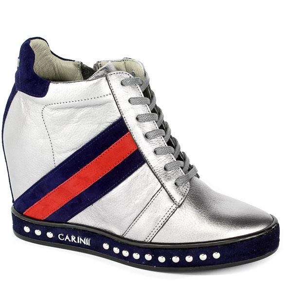 Sneakersy Carinii B4476-L91-H40-L93-C98 Srebrny