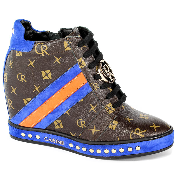 Sneakersy Carinii B4476-L98-H45-741-C98 Brąz