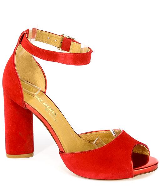 Sandały Łukasz 1802 14 Czerwony+Lust Rosso