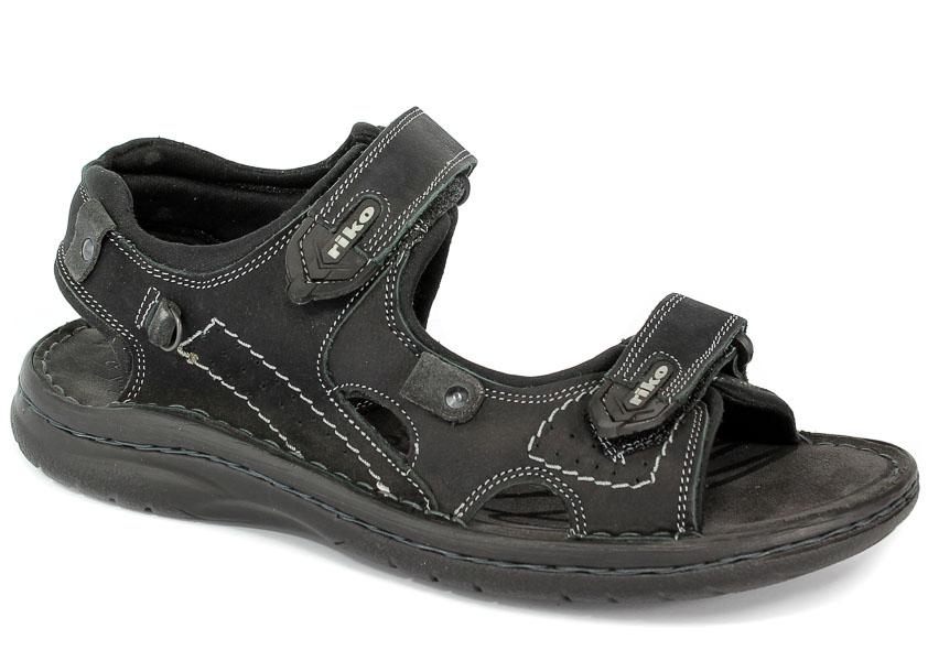 Sandały Riko 552 Barka czarna szar