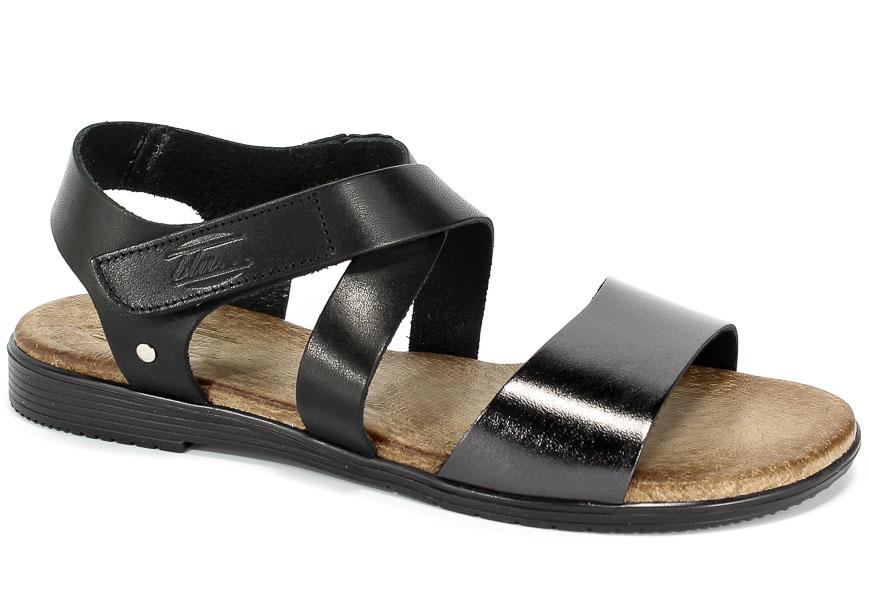 Sandały Blu... 2124 Czarny+Nikiel
